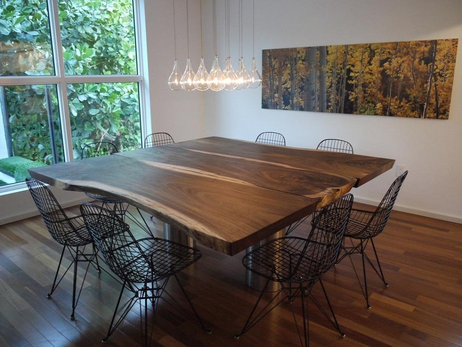 Amusing Square Dining Room Table For 8 With Leaf Contemporary – 3D For Drop Leaf Extendable Dining Tables (Image 3 of 20)