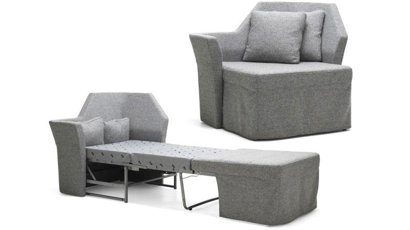 An Incredibly Tiny Sofa Bed For Your Skinniest Houseguests Regarding Single Sofa Beds (View 20 of 20)
