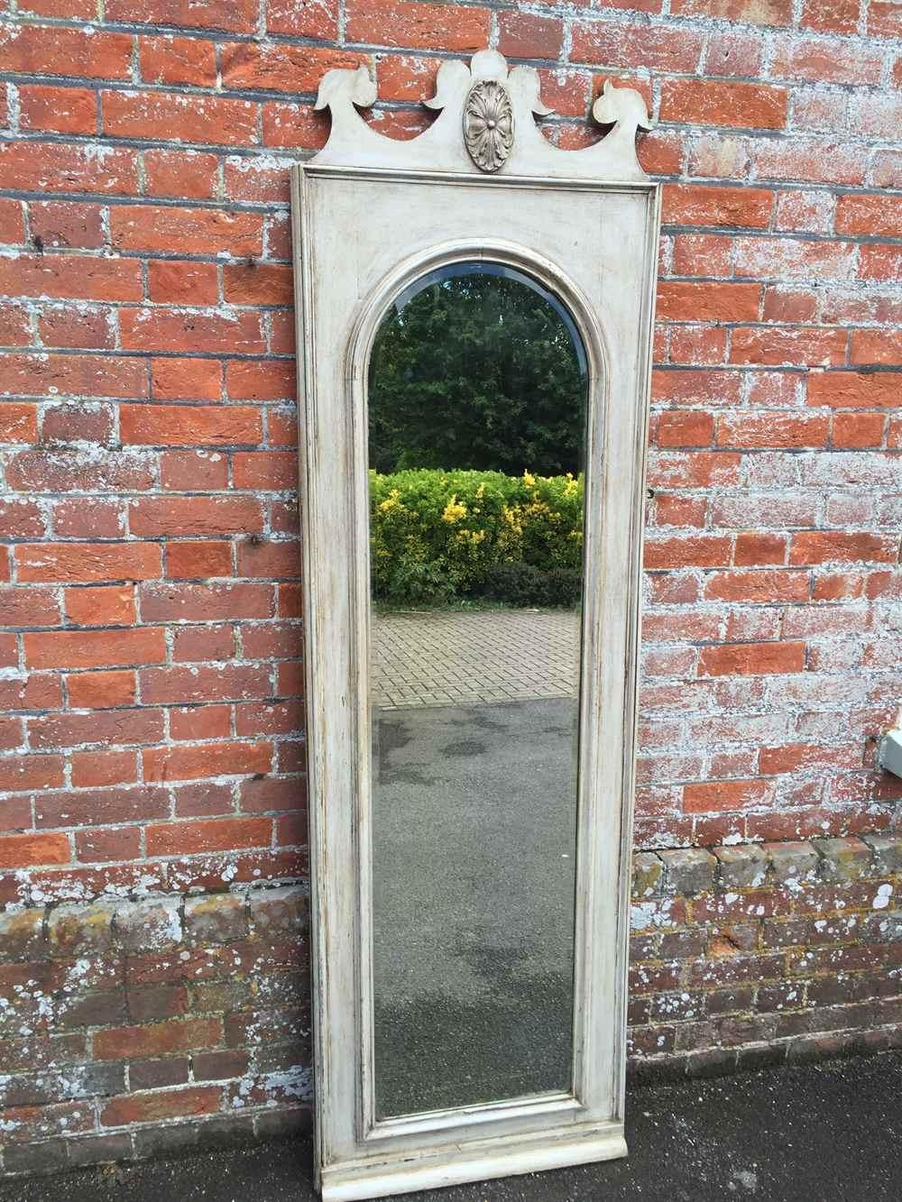 An Unusual Large Antique 19Th Century French Carved Wood Painted With Unusual Large Mirrors (Image 13 of 20)