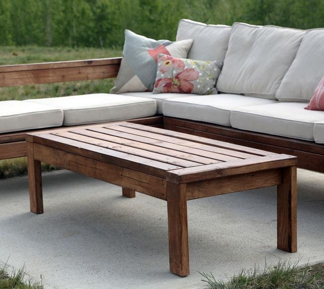 Ana White | 2X4 Outdoor Coffee Table – Diy Projects For Ana White Outdoor Sofas (Image 1 of 20)