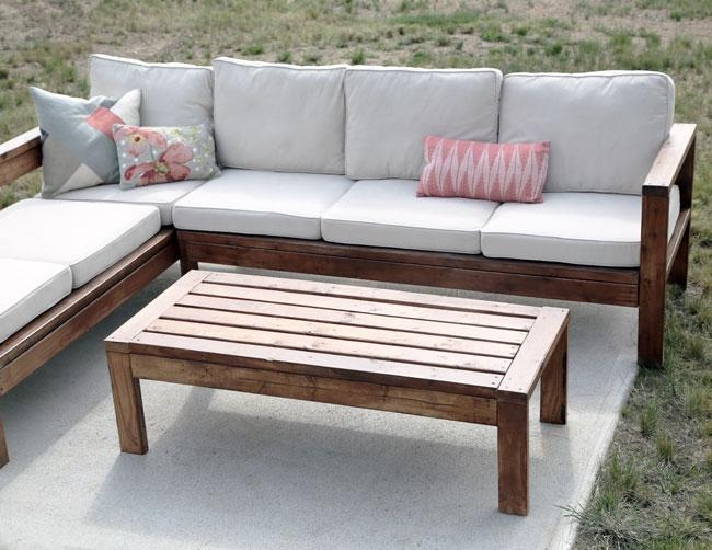 Ana White | 2X4 Outdoor Coffee Table – Diy Projects Throughout Ana White Outdoor Sectional Sofas (Image 3 of 20)
