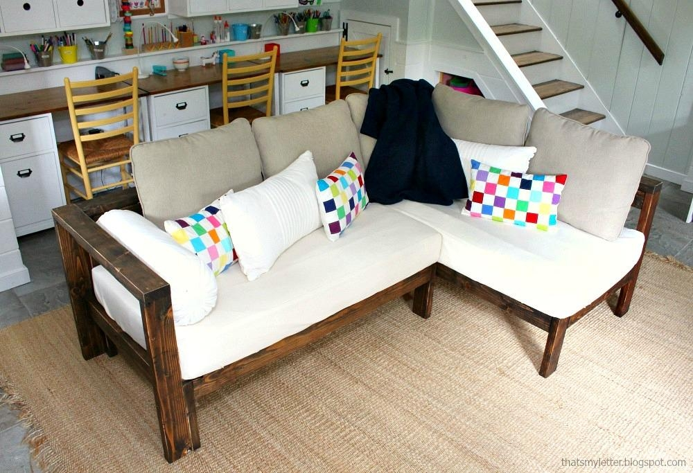 Ana White | Kids Couch – 2X4 Diy Sectional With Crib Mattress In Sofas Mattress (Image 3 of 20)