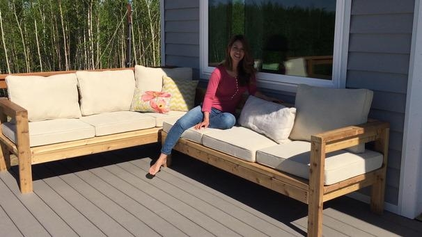 Ana White | One Arm Outdoor Sectional Piece – Diy Projects With Ana White Outdoor Sofas (Image 5 of 20)
