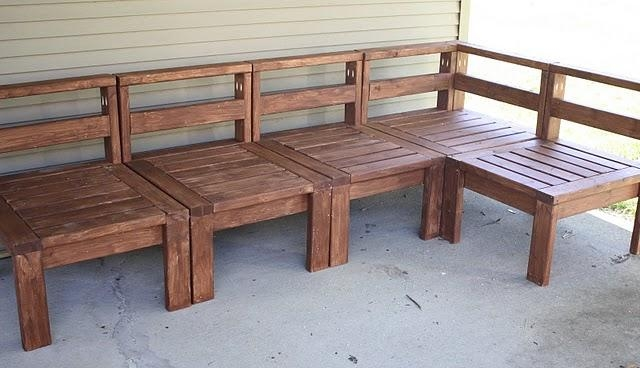 Ana White | Outdoor Sectional With 2X4S – Diy Projects Pertaining To Ana White Outdoor Sectional Sofas (Image 11 of 20)