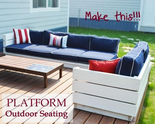 Ana White | Platform Outdoor Sectional – Diy Projects Pertaining To Ana White Outdoor Sofas (Image 9 of 20)