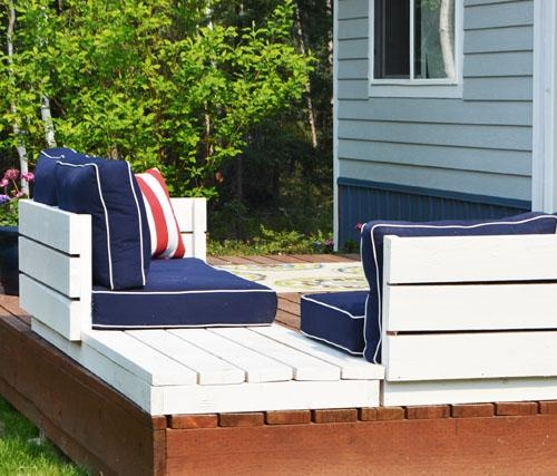 Ana White | Platform Outdoor Sectional With End Table (Part 2 Within Ana White Outdoor Sectional Sofas (Image 14 of 20)