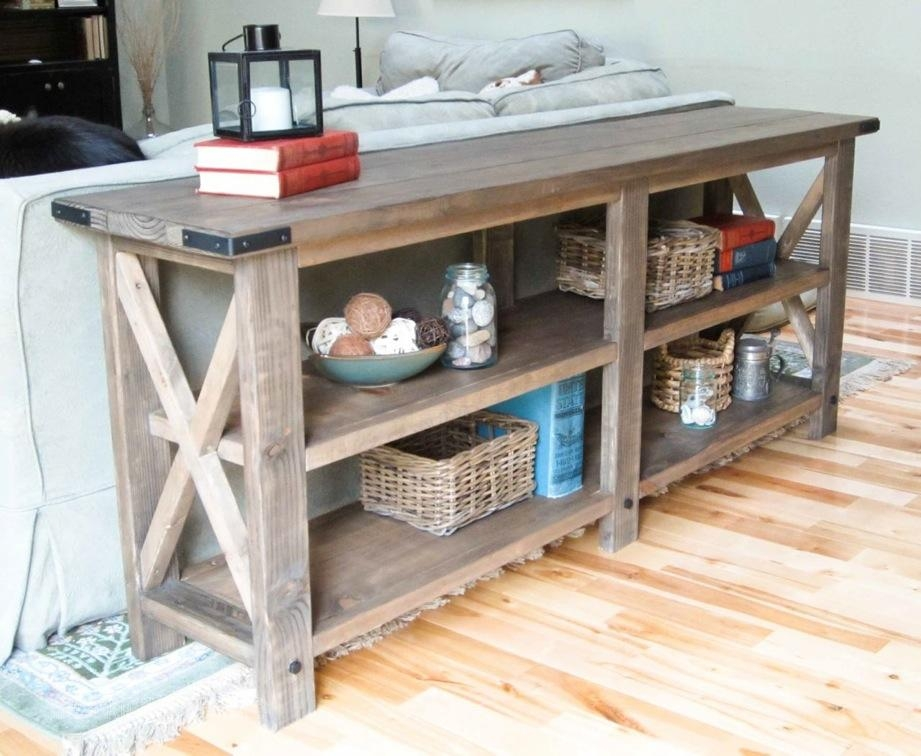 Ana White | Rustic X Console – Diy Projects Within Country Sofa Tables (Image 3 of 20)