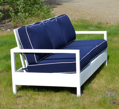 Ana White | Simple White Outdoor Sofa – Diy Projects Throughout Ana White Outdoor Sofas (Image 11 of 20)