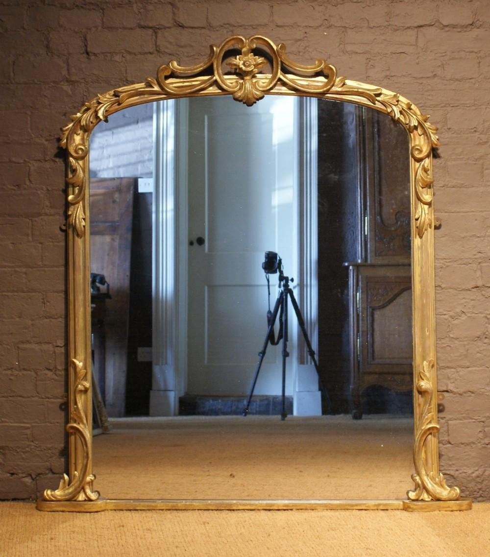 Antique 19Th Century Arch Top Carved Wood And Water Gilt Within Antique Arched Mirror (Image 4 of 20)
