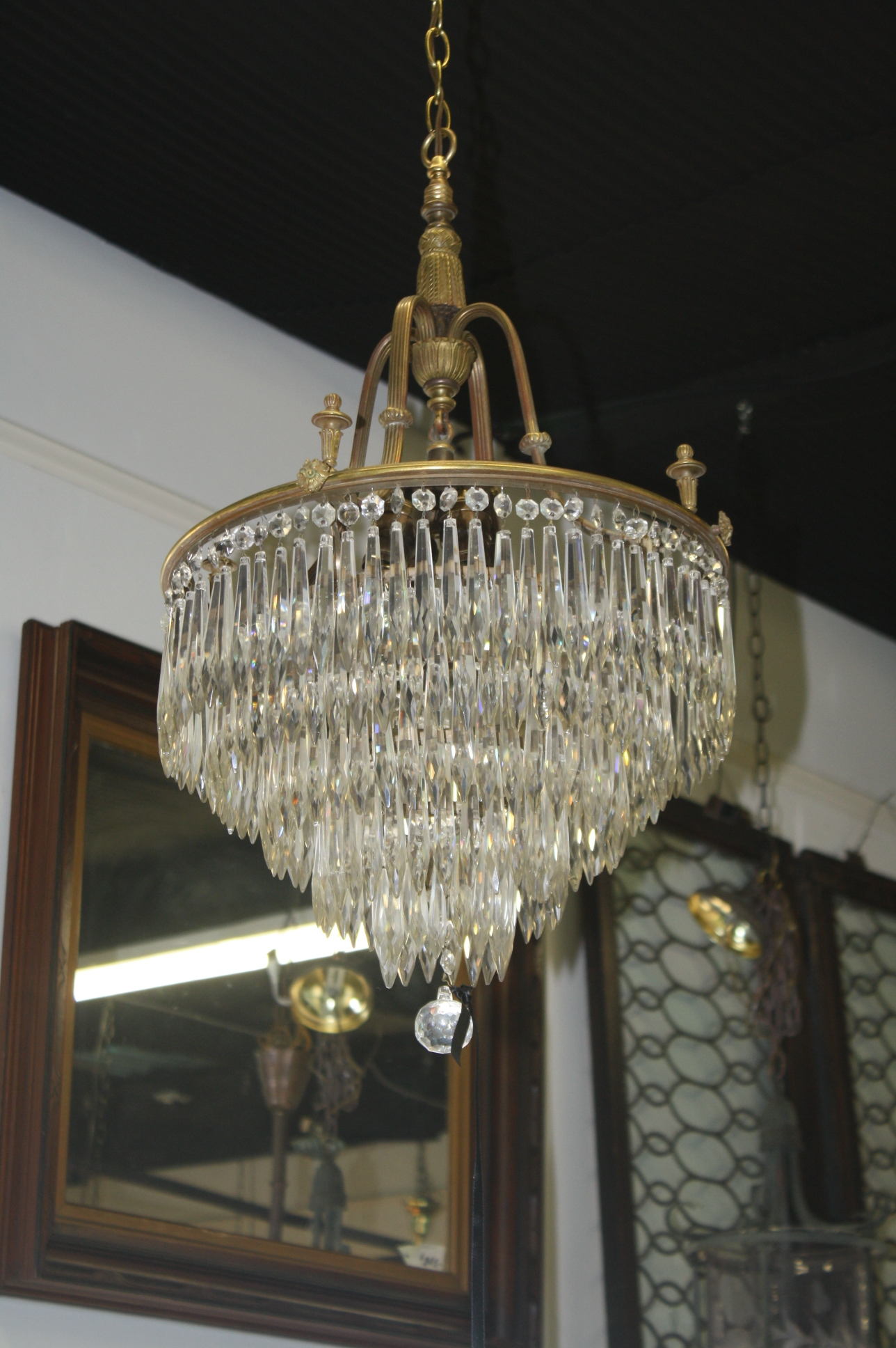 Antique Chandeliers For Sale Enlarge Photoantiques Com In Old Brass Chandeliers (Image 7 of 25)