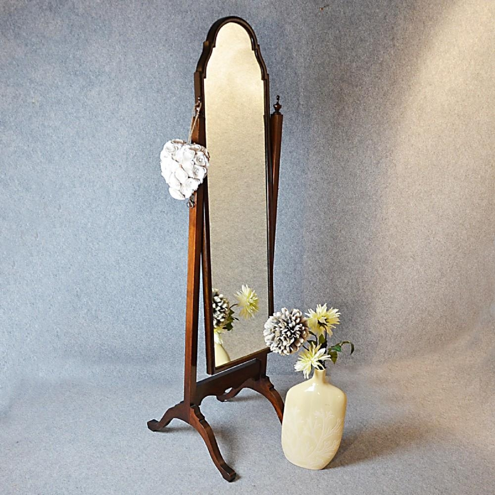 Antique Cheval Mirror Tall Dressing Swing Free Standing English Regarding Dressing Mirrors Free Standing (Image 1 of 20)