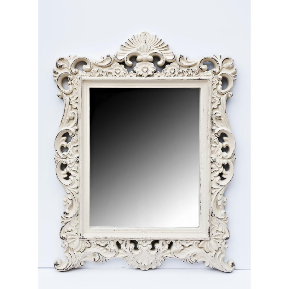 Antique Cream Rectangular Mirror – Allens Throughout Antique Cream Mirror (Image 9 of 20)