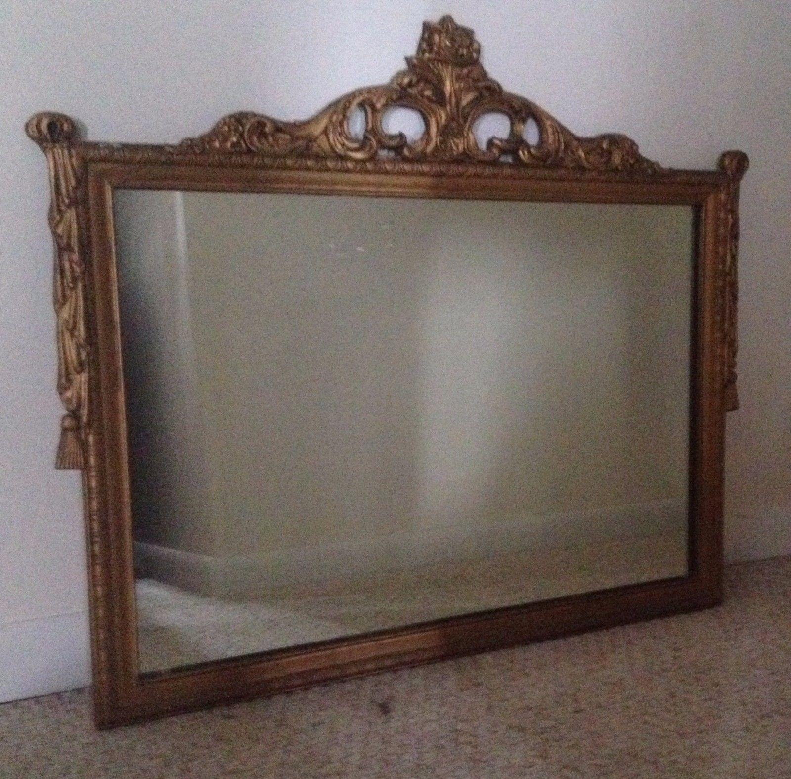 Antique Decorative Carved Wood Gold Gilt Mirror | What's It Worth With Regard To Gold Gilt Mirror (Image 1 of 20)