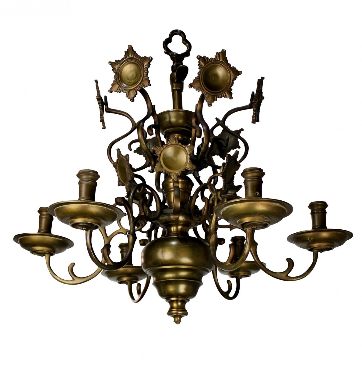 Antique Flemish Brass Chandelier 1840s For Sale At Pamono Inside Flemish Brass Chandeliers (Image 2 of 25)