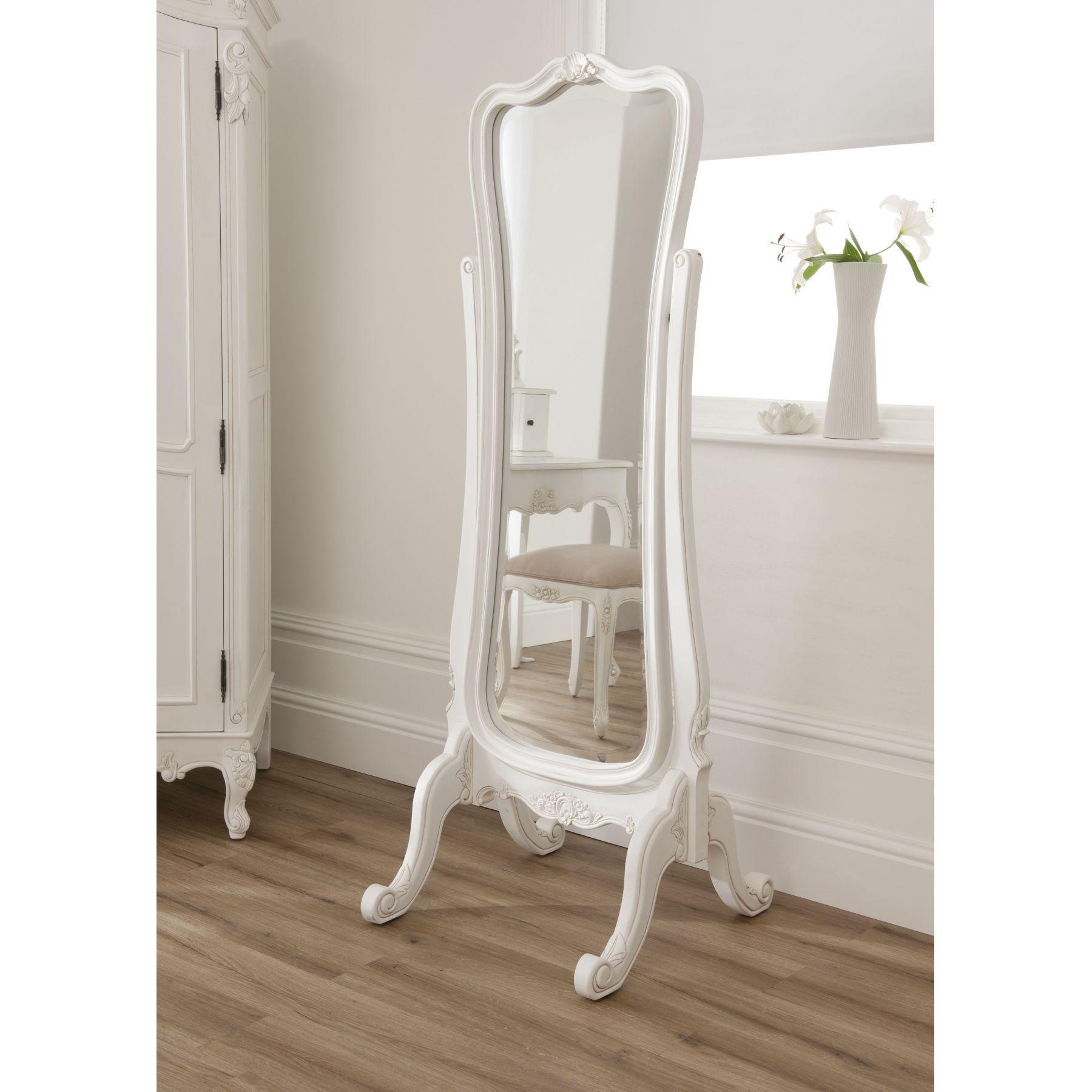 Antique Floor Mirror With Stand | Floor Decoration In Cream Floor Standing Mirror (View 14 of 20)