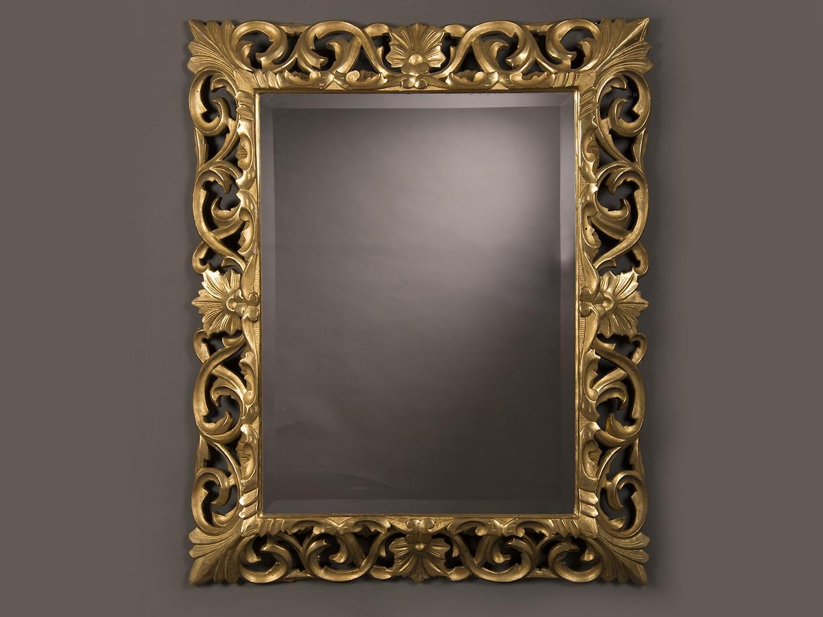 Antique French Baroque Style Gold Beveled Mirror, 1875 (35 1/2″w X For Baroque Mirror Gold (Image 5 of 20)