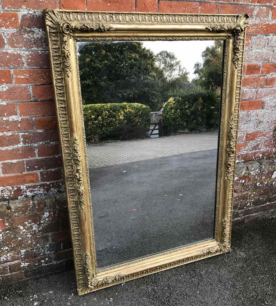 Antique French Mirrors, Antique Silver Framed Mirrors, Large Gilt With Regard To Antique Mirrors Large (Image 6 of 20)