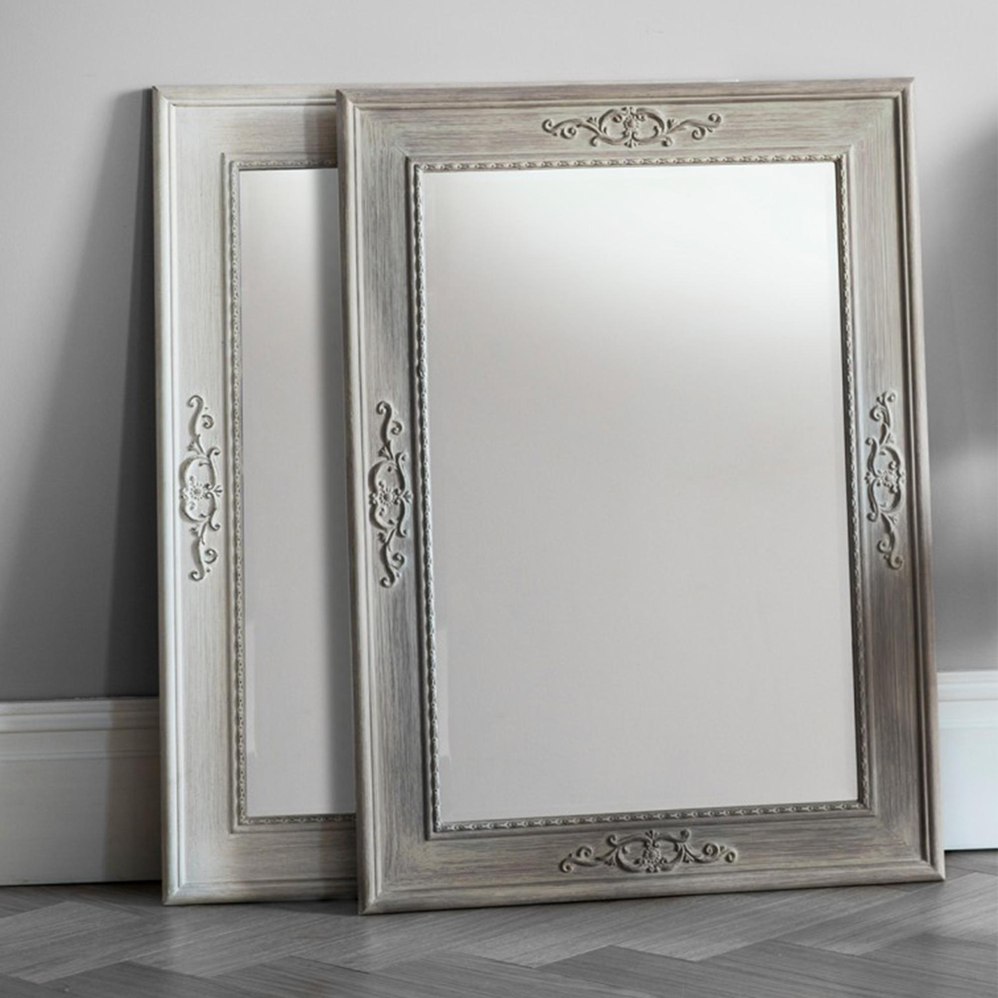 Antique French Style Wall Mirror Within French Style Wall Mirror (Image 4 of 20)