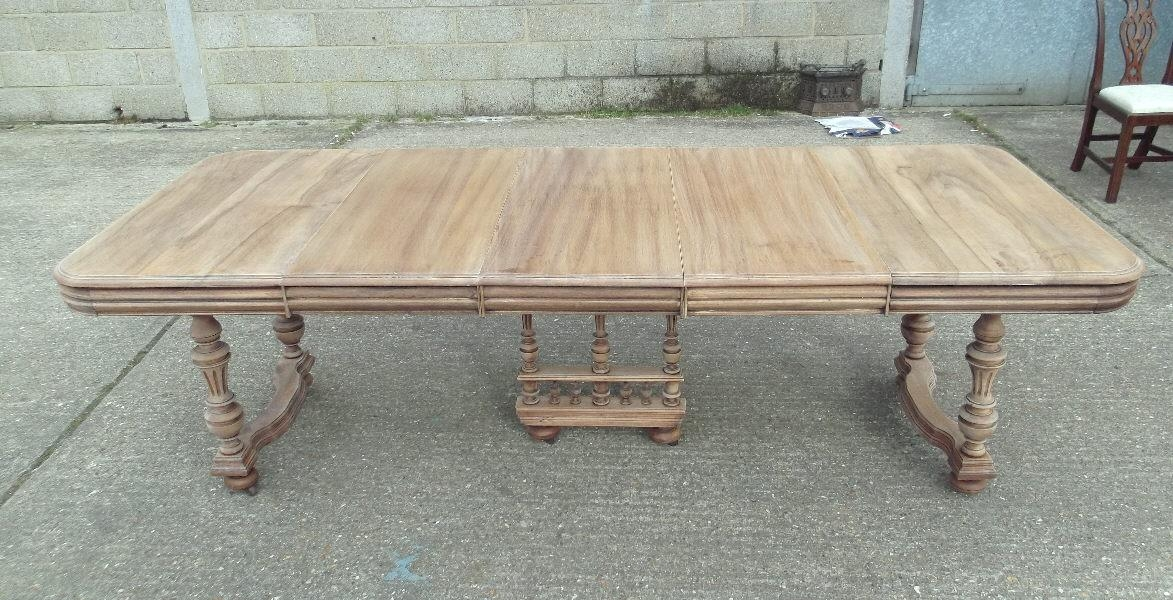 Antique Furniture Warehouse – French Antique Dining Table – Large Within French Extending Dining Tables (Image 3 of 20)