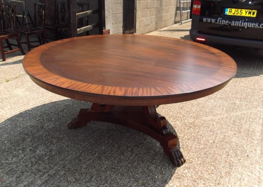 Antique Furniture Warehouse – Huge Round Antique Dining Table Within Huge Round Dining Tables (Image 5 of 20)