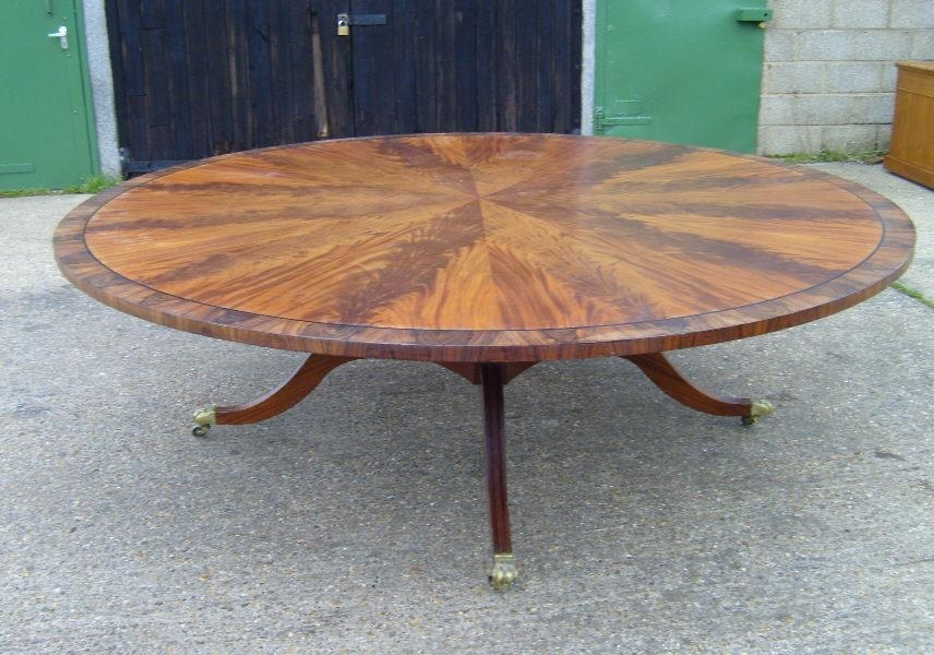 Antique Furniture Warehouse – Large Antique Round Dining Table Intended For Huge Round Dining Tables (Image 6 of 20)
