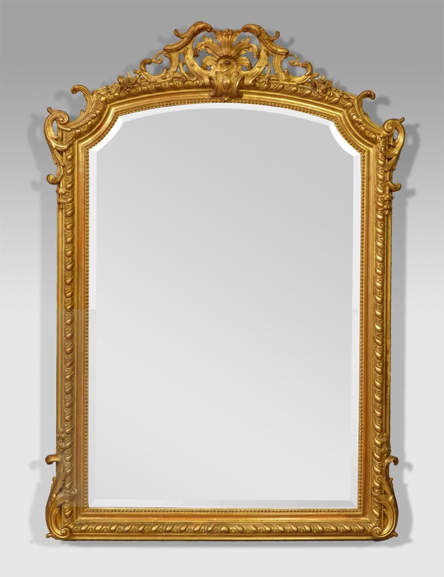Antique Gilt Mirror, French Antique Mirror, Antique Gold Mirror With Regard To Antique Gilt Mirror (Image 11 of 20)