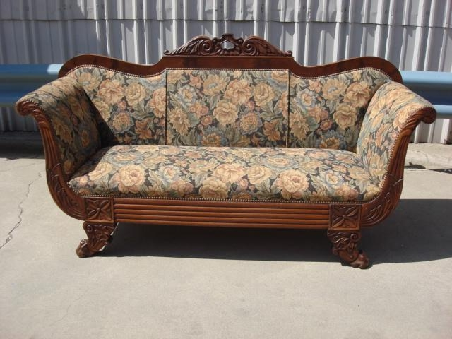 Antique Hand Carved Biedermeier Sofa Couch Intended For Biedermeier Sofas (Image 5 of 20)