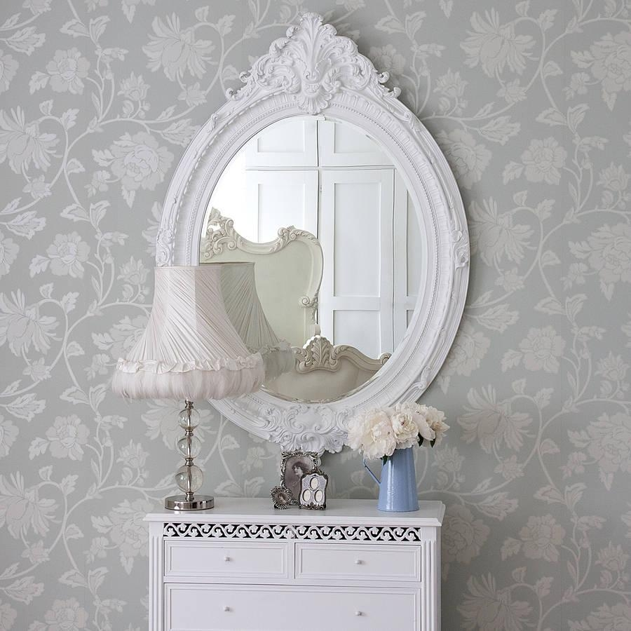 Antique Looking Mirrors: Add A Little Classic Touch To Your Room For White Antique Mirrors (Image 2 of 20)