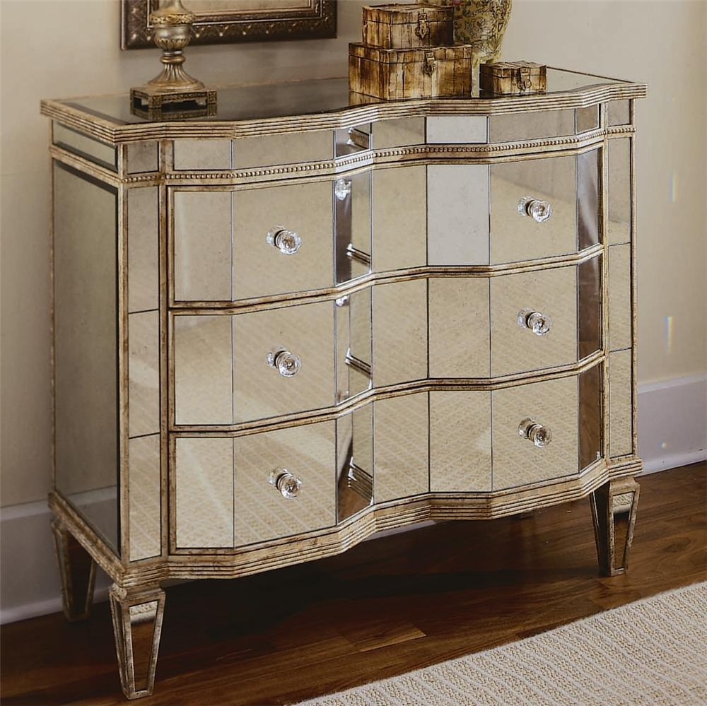 Antique Mirrored Chest Of Drawers – Harpsounds (Image 3 of 20)