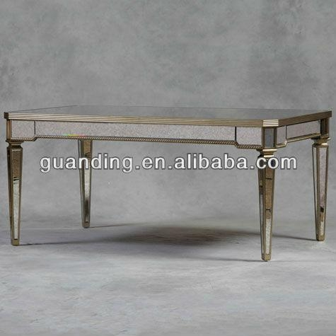 Antique Mirrored Glass Dining Table – Buy Glass Mirror Bedside In Antique Mirror Dining Tables (Image 7 of 20)
