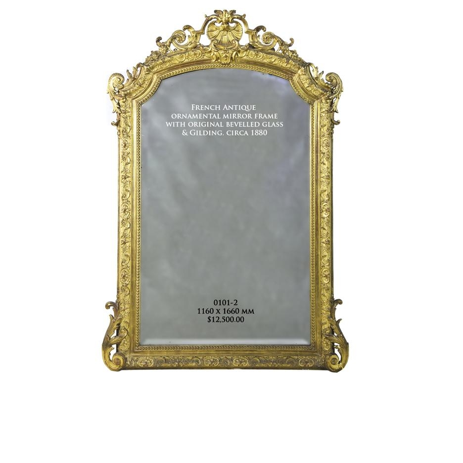 Antique Mirrors Melbourne | French Antique Mirrors >> Giltwood Inside Reproduction Antique Mirrors (Image 9 of 20)