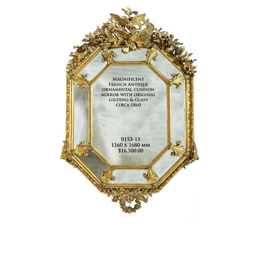 Antique Mirrors Melbourne | French Antique Mirrors >> Giltwood Regarding Reproduction Antique Mirrors (Image 11 of 20)