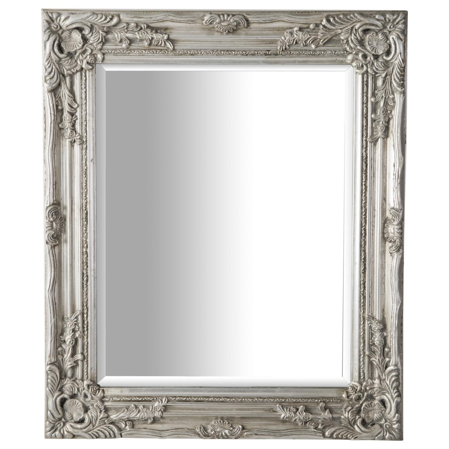Antique Ornate Mirror Silver Inside Silver Antique Mirror (Image 2 of 20)