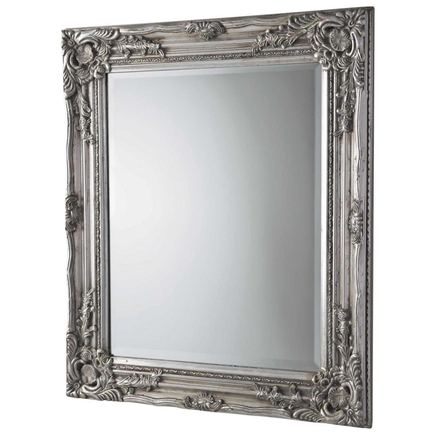 Antique Ornate Mirror Silver Throughout Silver Antique Mirror (Image 3 of 20)