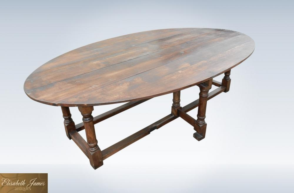 Antique Refectory Tables Uk In Our Antique Furniture Warehouse 1 Pertaining To Oval Folding Dining Tables (Image 7 of 20)