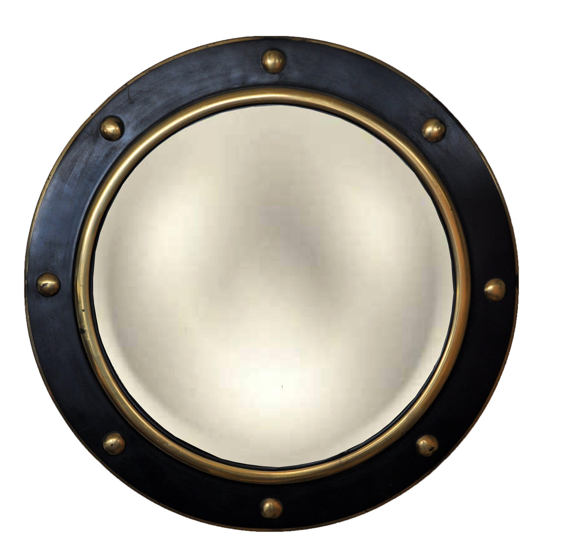 Antique Round Gilt Ball Convex Mirror – Mecox Gardens Pertaining To Round Gilt Mirror (Image 3 of 20)