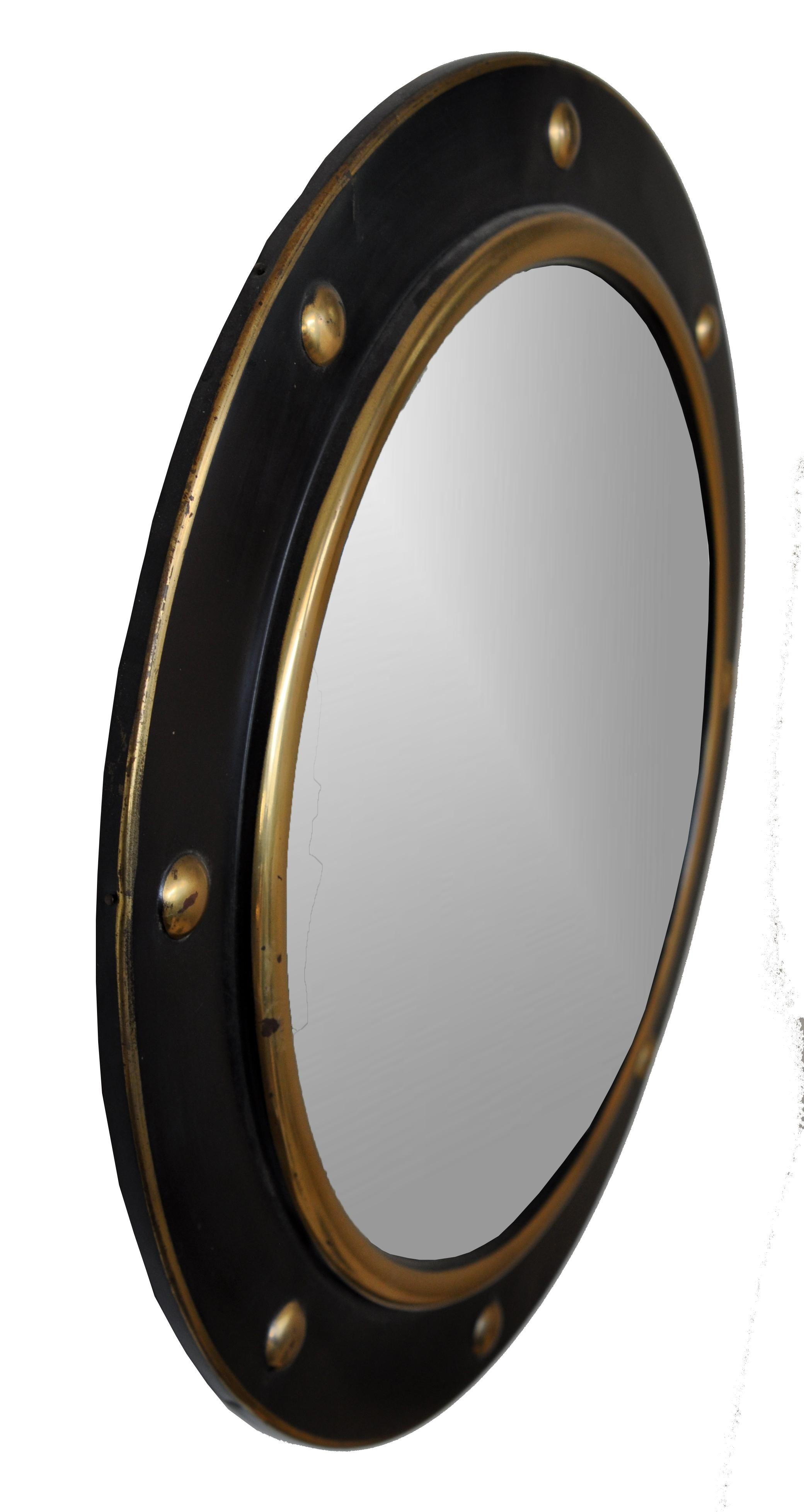 Antique Round Gilt Ball Convex Mirror – Mecox Gardens Within Round Gilt Mirror (Image 5 of 20)