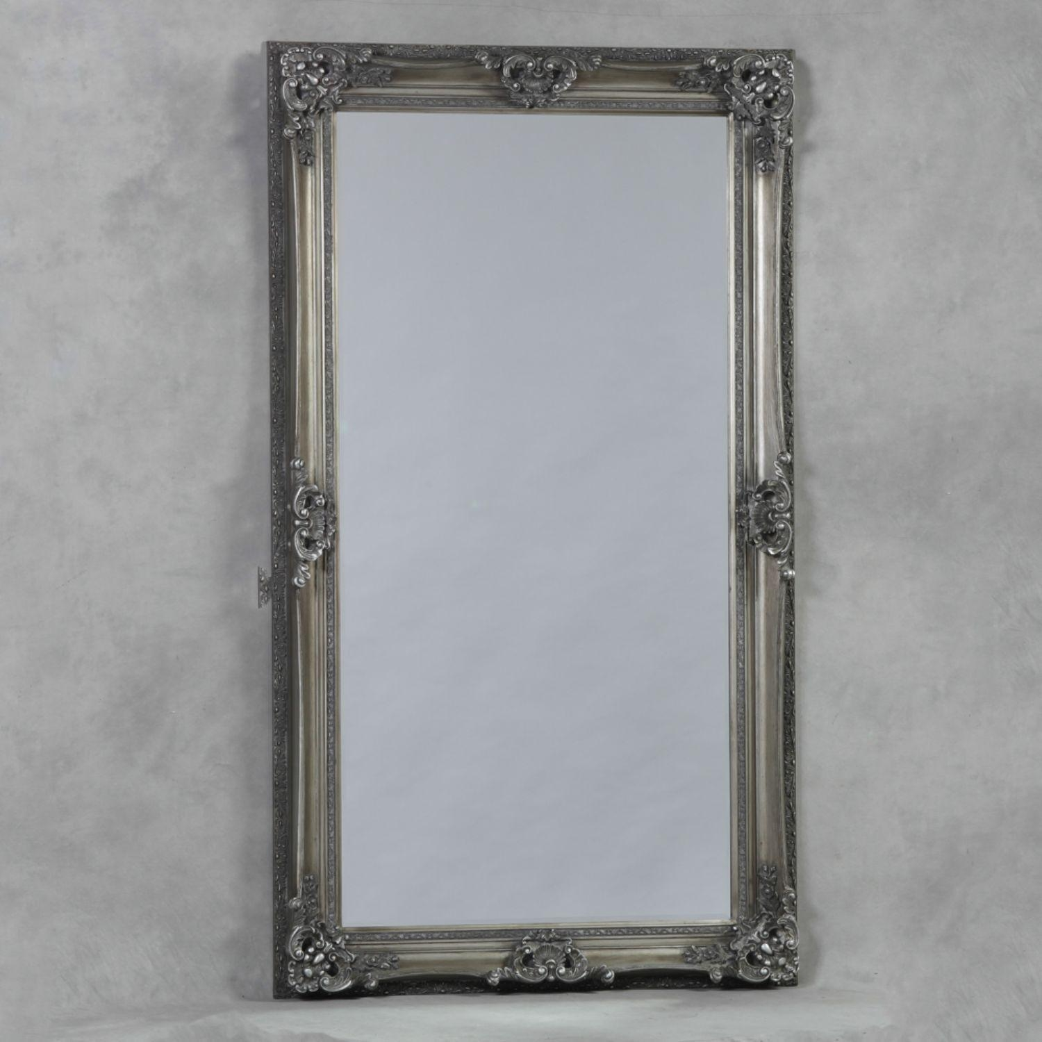 Antique Silver Large Regal Mirror Within Silver Antique Mirror (Image 4 of 20)