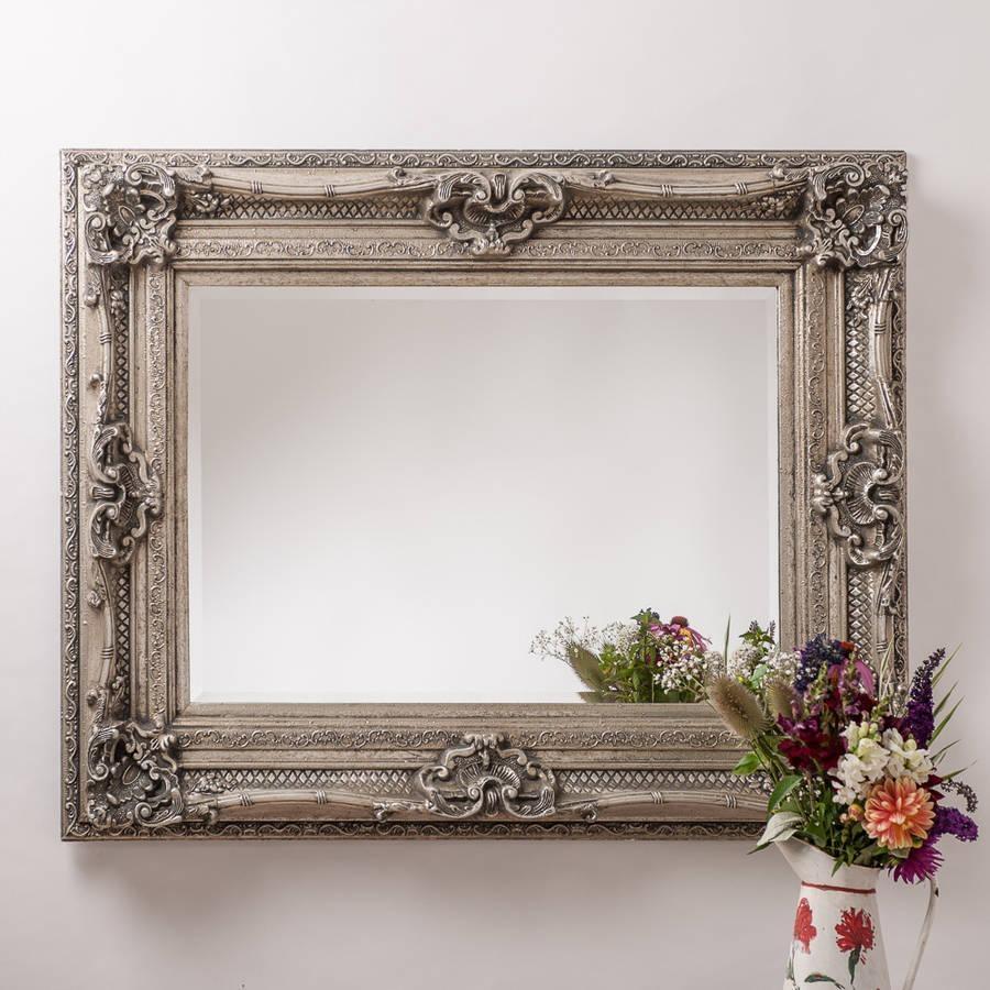 Antique Silver Ornate Rococo Mirrorhand Crafted Mirrors With Regard To Antique Silver Mirror (Image 6 of 20)