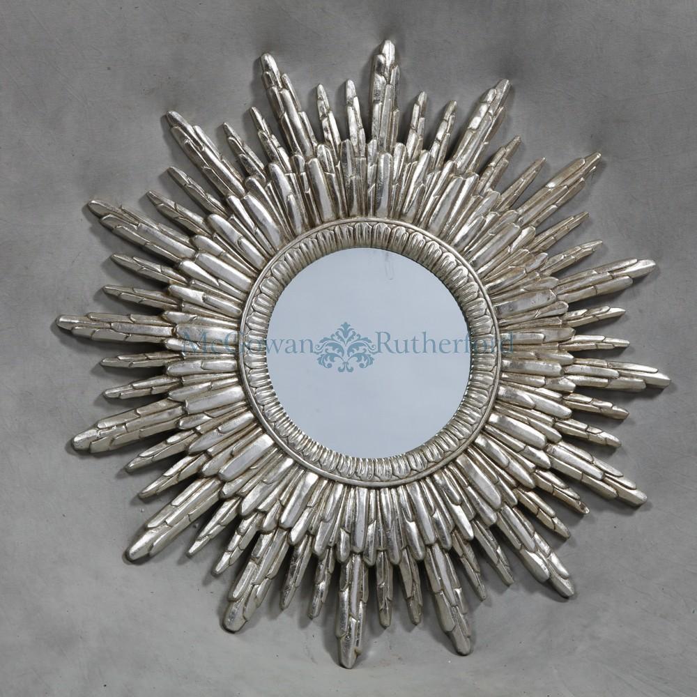 Antique Silver Sun Mirror Throughout Antique Silver Mirror (Image 8 of 20)