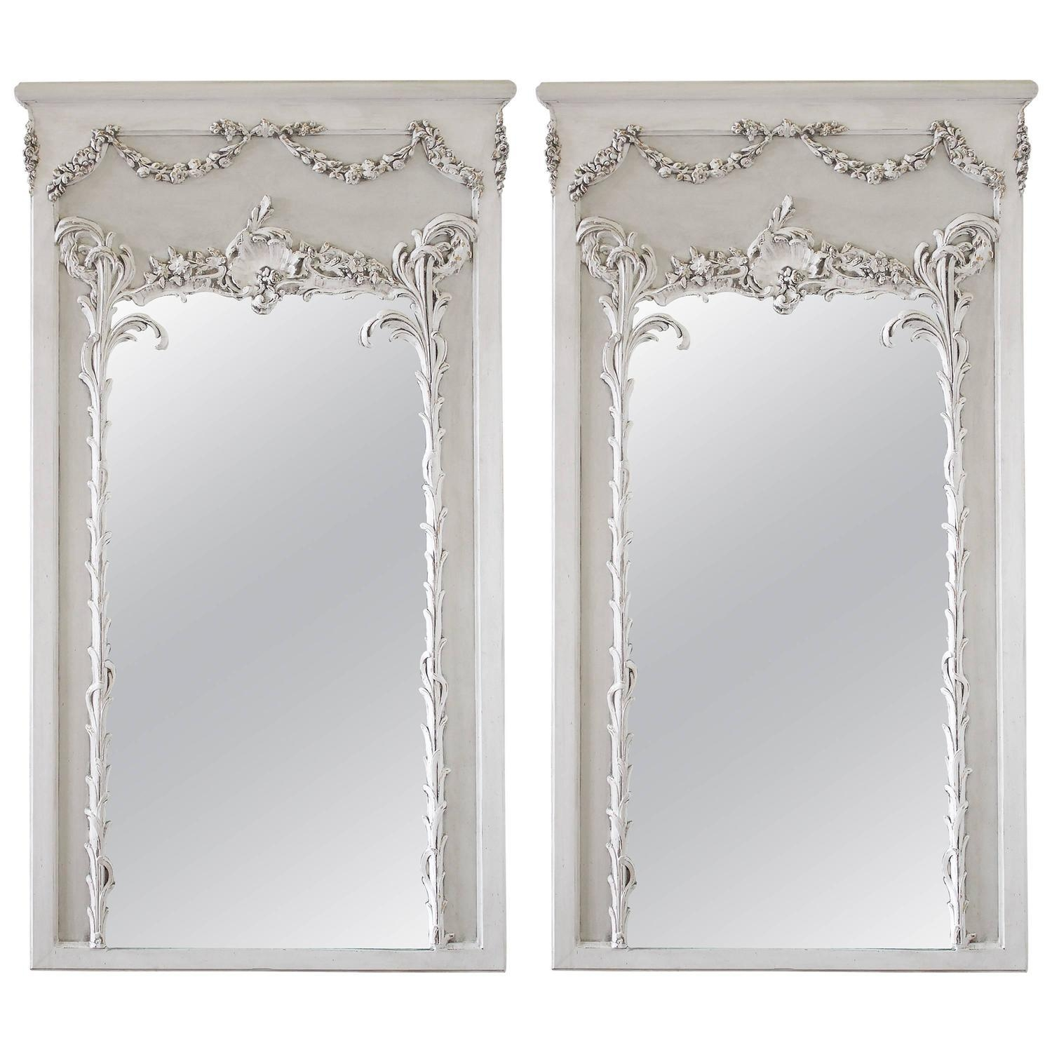 Antique Trumeau Mirrors For Sale In California – 1Stdibs Pertaining To White French Mirrors (Image 11 of 20)
