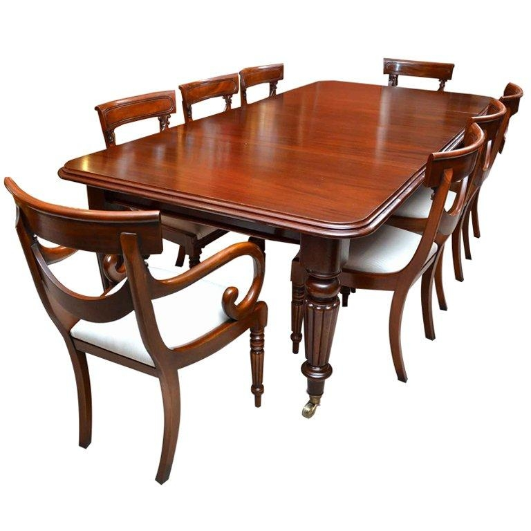 Antique Victorian 8 Ft Mahogany Dining Table And 8 Chairs At 1Stdibs Regarding Mahogany Dining Table Sets (Image 1 of 20)