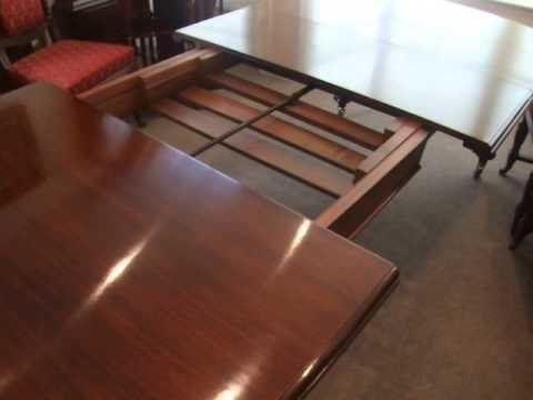 Antique Victorian Mahogany Extending Dining Table – Youtube With Regard To Mahogany Extending Dining Tables (Image 6 of 20)