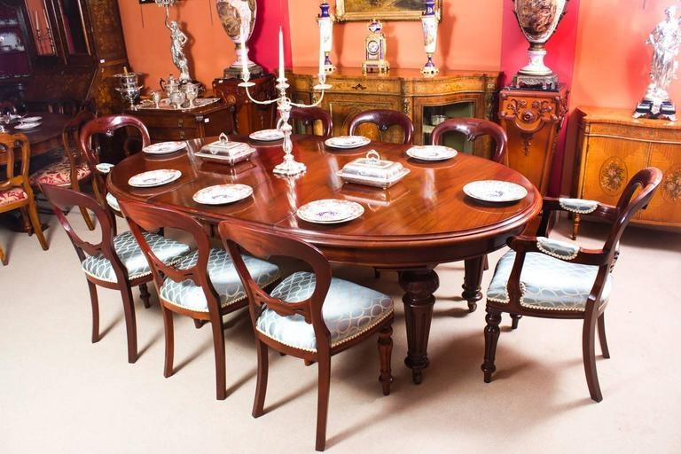 Antique Victorian Oval Dining Table And Eight Chairs, Circa 1860 Regarding Oval Dining Tables For Sale (Image 3 of 20)