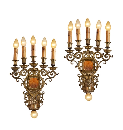 Antique Wall Sconces Antique Sconces Antique Lights Rejuvenation In Wall Mounted Candle Chandeliers (Image 11 of 25)