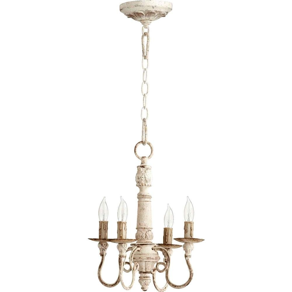Antique White Mini Chandelier Antique Home Regarding Small White Chandeliers (Image 1 of 25)