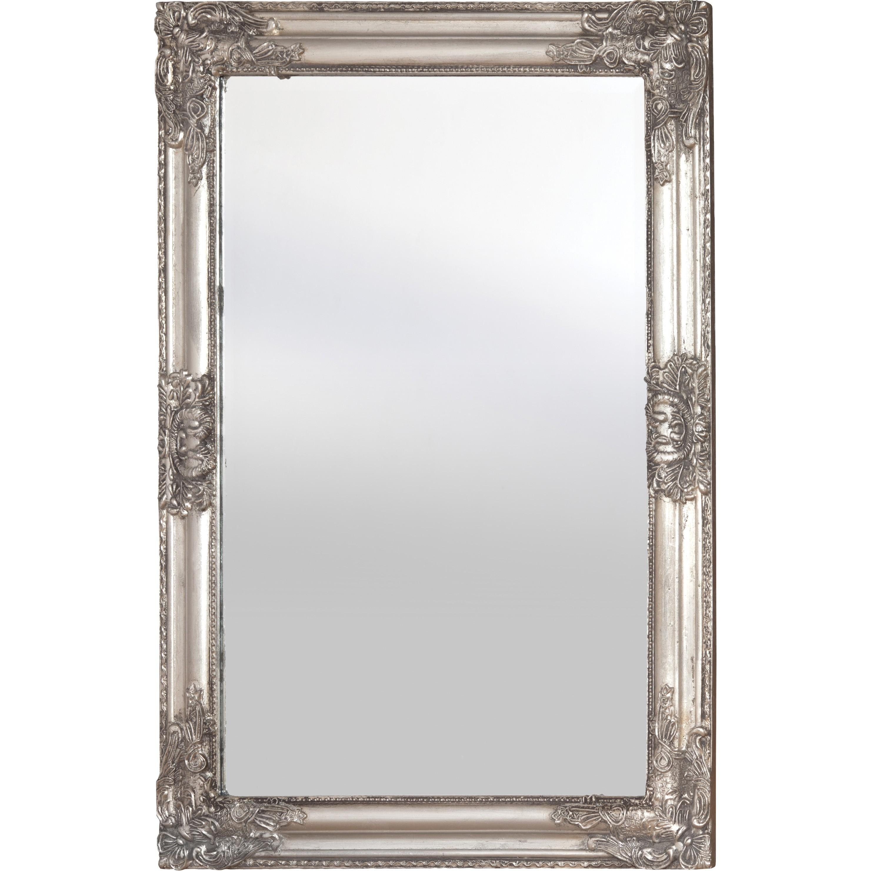 Antique Wooden Framed Mirror (Silver) Throughout Antique Silver Mirror (View 7 of 20)