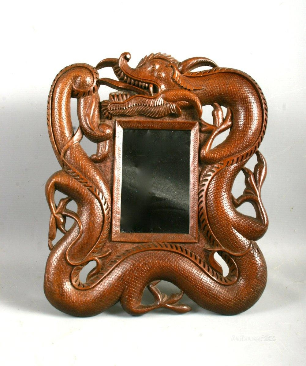 Antiques Atlas – Antique Chinese Burmese Hardwood Dragon Table Mirror With Chinese Mirrors (View 7 of 20)
