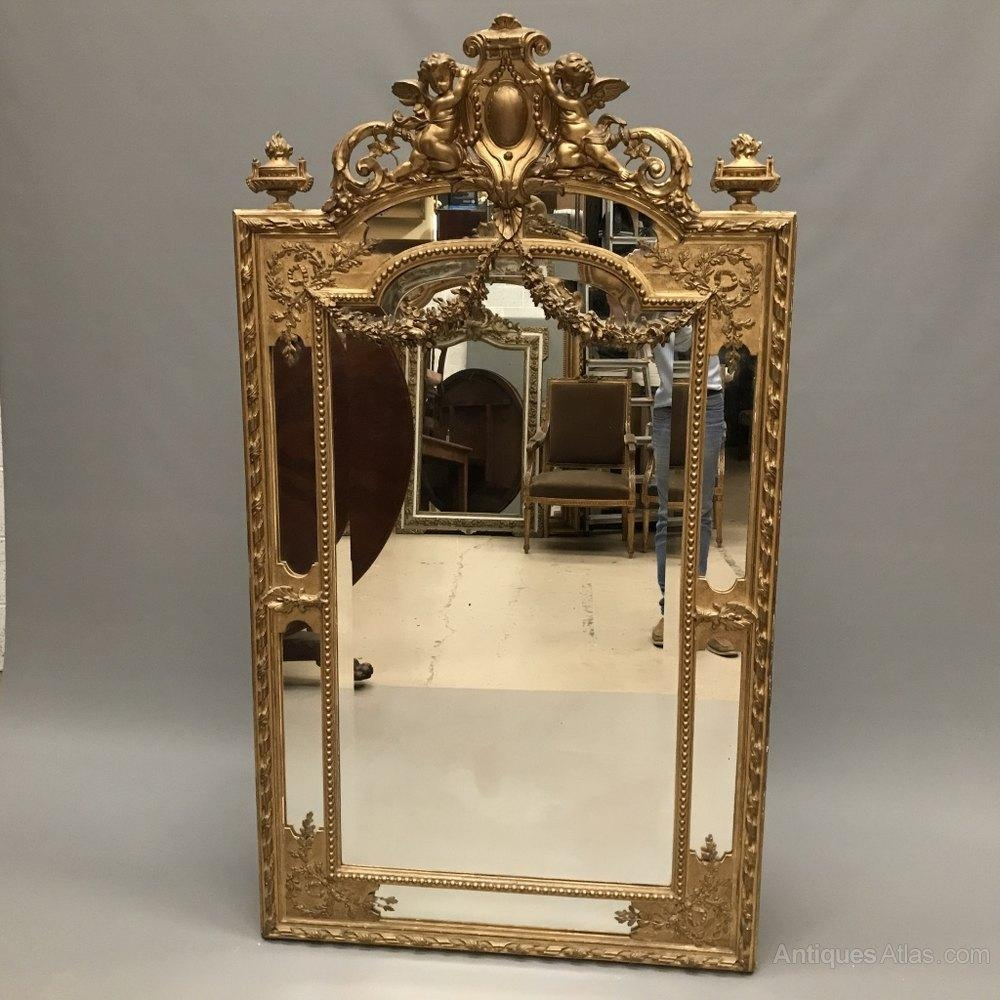 Antiques Atlas – Exquisite French Gilt Mirror With Garlands With Regard To Antique Gilt Mirror (Image 12 of 20)