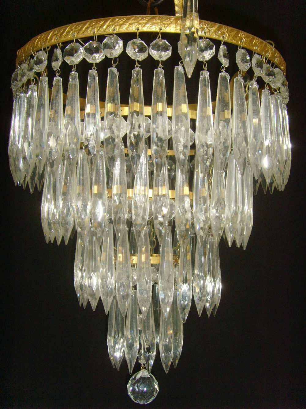 Antiques Atlas Four Tier Waterfall Chandelier With Ball In Waterfall Chandeliers (Image 8 of 25)